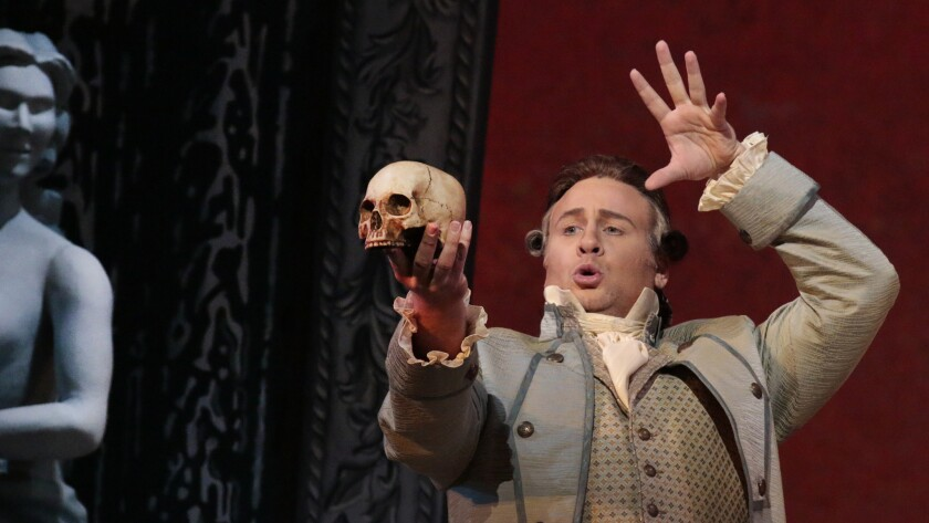 "L.A. Opera's ""The Ghosts of Versailles"" features Lucas Meachem as Beaumarchais' Figaro character."
