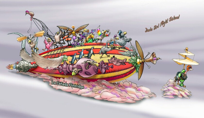 The La Cañada Flintridge Tournament of Roses Assn. rendering of the float it will enter in the 2020 Rose Parade.
