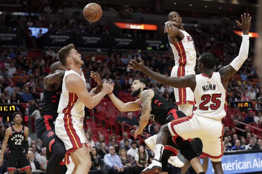 Raptors Heat Basketball
