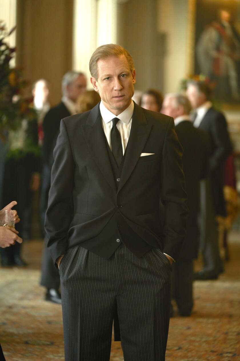 """Tobias Menzies in a scene from """"The Crown."""""""