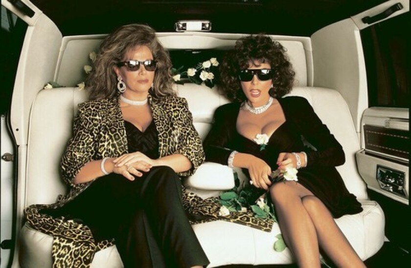 A 1987 Annie Leibovitz photograph of Jackie and Joan Collins is among the images in a Los Angeles County Museum of Art exhibition and an Abrams book.