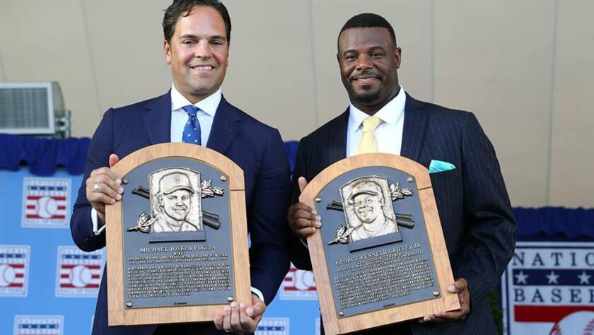 Mike Piazza y Ken Griffey Jr.... inmortales.