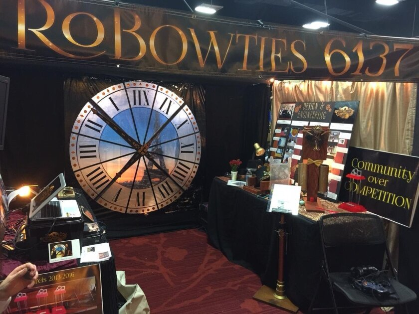 The RoBowties booth was inspired by the 2011 feature film, 'Hugo.'