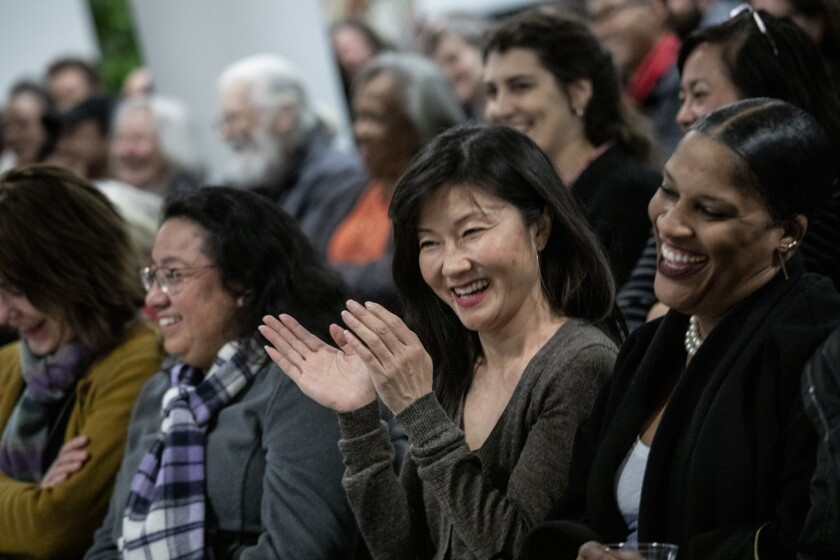 LOS ANGELES, CA --FEBRUARY 20, 2019 --The audience reacts during a discussion between Writer and edi