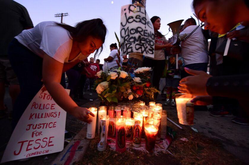 La comunidad se volcó a recordar a Jesse James Romero en una vigilia, realizada el 10 de agosto de 2016.