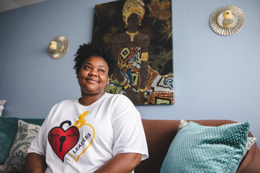 April Laster, CEO and founder of the nonprofit Open Heart Leaders