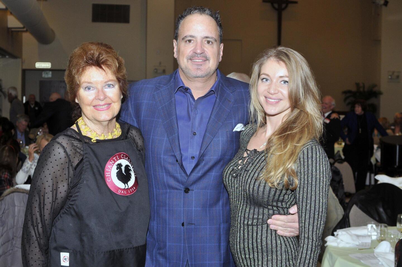 Event chair Brenda Hayward with son Richard Caleel and Irina Kostrykina