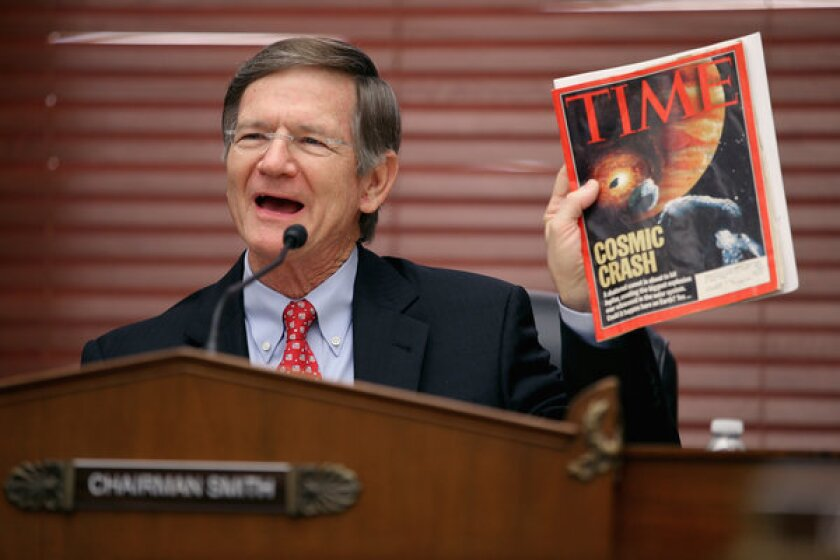 Rep. Lamar Smith defends tentative changes to research funding