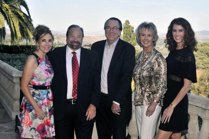 San Diego Film Foundation CFO Vicky Carlson, Chairman/Co-founder Dale Strack, Variety Vice President/Executive Editor Steven Gaydos, San Diego Film Foundation Executive and Artistic Director/Co-founder Tonya Mantooth, Luxury brand Ambassador Evva Fenison