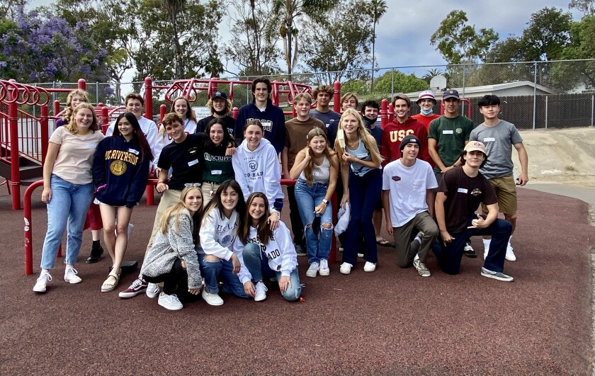 Seniors graduating from various local high schools who went to Bird Rock Elementary reunited June 3.