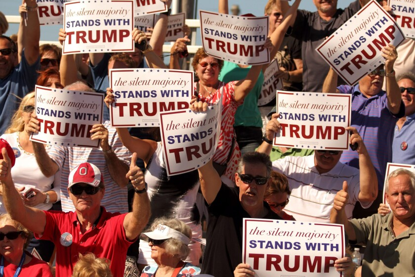 Donald Trump campaigns in Sarasota, Florida, USA