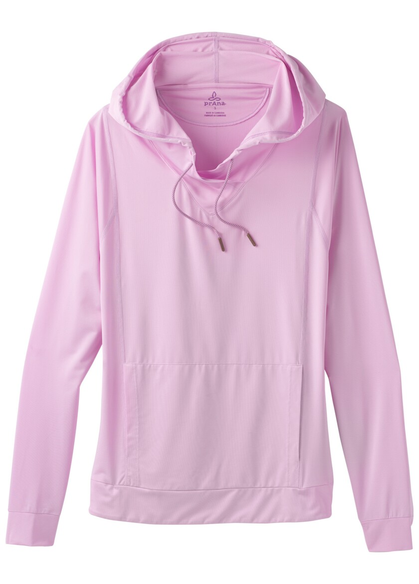 2. Sun sense Throw on this lightweight quick-drying hoodie made of UPF 25+ jersey to head off sunbur