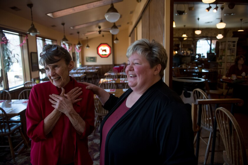 Beverly Minor and her daughter, Marsha, owners of the Spring House Farm and Restaurant in Eighty Four, Pa.