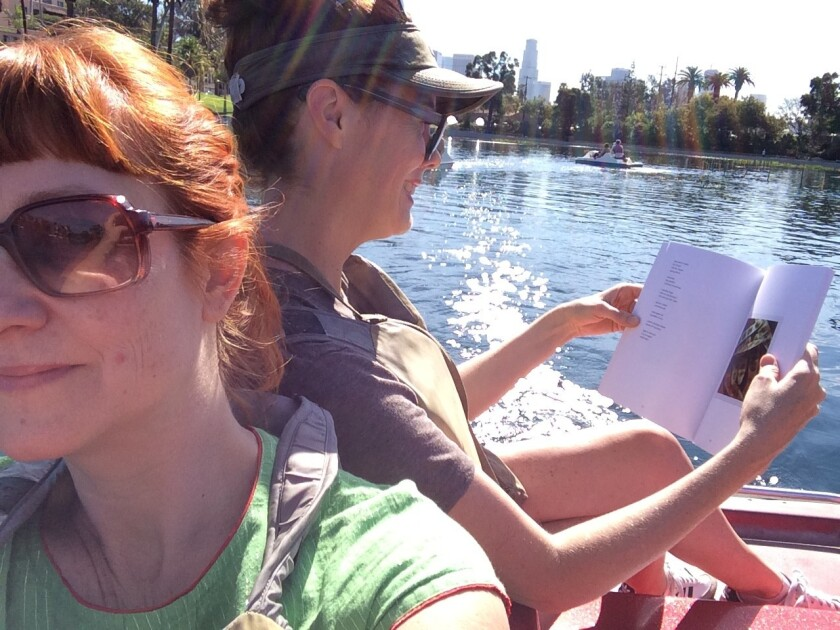 Reading on the lake