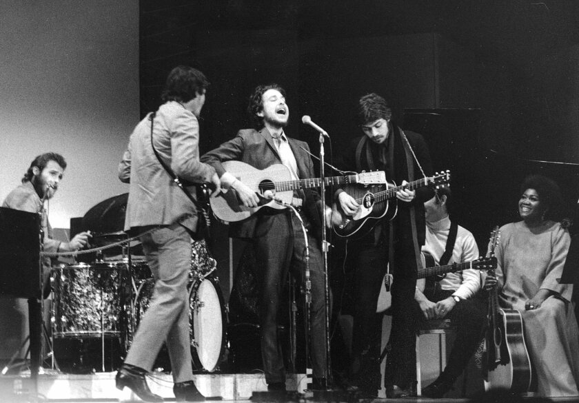Bob Dylan performs with the Band