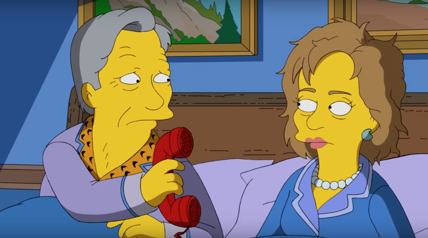 Trumps Budget Takes Aim At My Sweet Son >> The Simpsons Takes Aim At Donald Trump In New Video Los