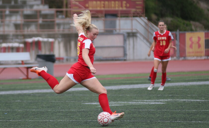 Senior Megan Janikowski was part of a huge defensive performance by Cathedral Catholic.