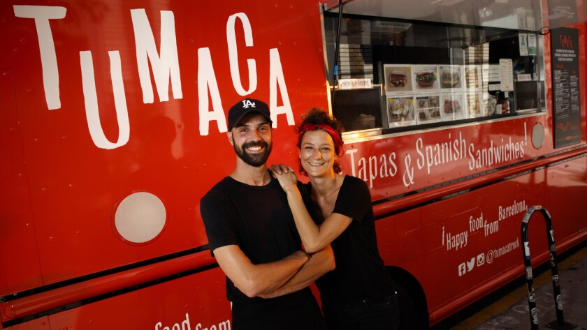 Victor and Sybil Roquin at their Tumaca food truck,