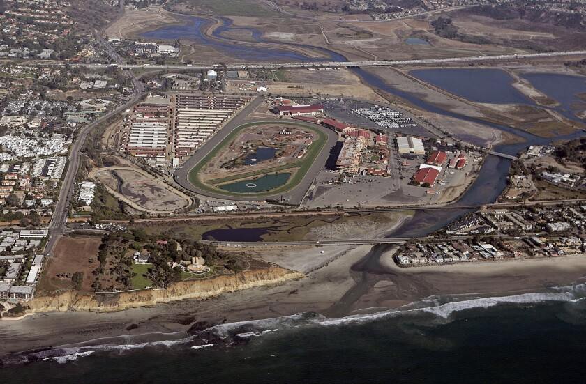 The Del Mar Fairgrounds.