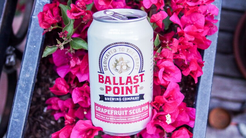 Ballast Point plans to open a restaurant in Long Beach. Pictured is one of the brewery's most popular beers.