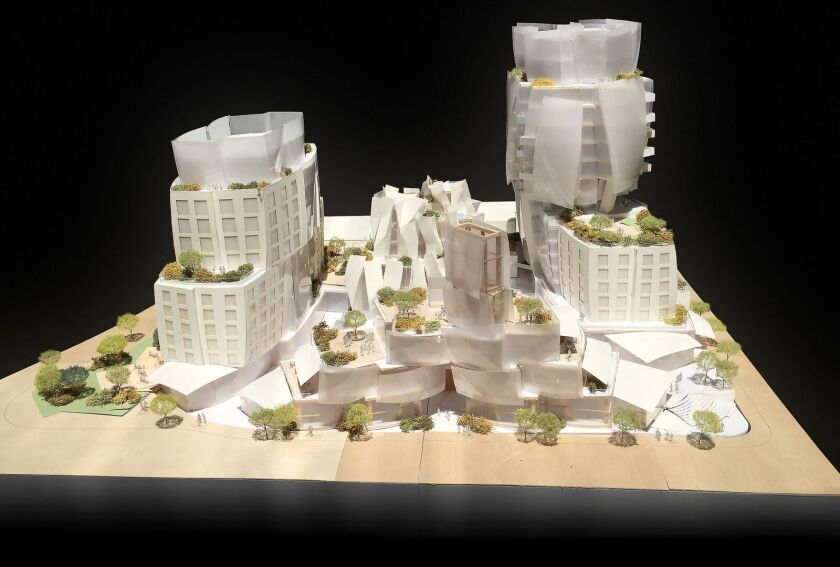 A model of the 8150 Sunset Blvd. project