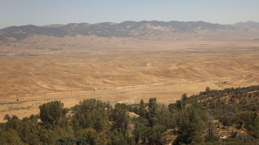 An elevated view of grasslands seen along CA Highway 138 that could be developed under the proposed Centennial Project on the Tejon Ranch. The project cleared a major administrative hurdle Wednesday on its way to final consideration by the county's Board of Supervisors.