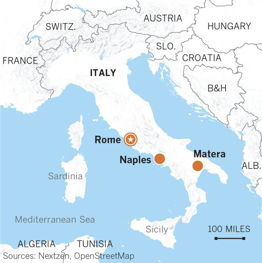 Capital Of Italy Map.Matera From Italy S National Disgrace To European Cultural Capital