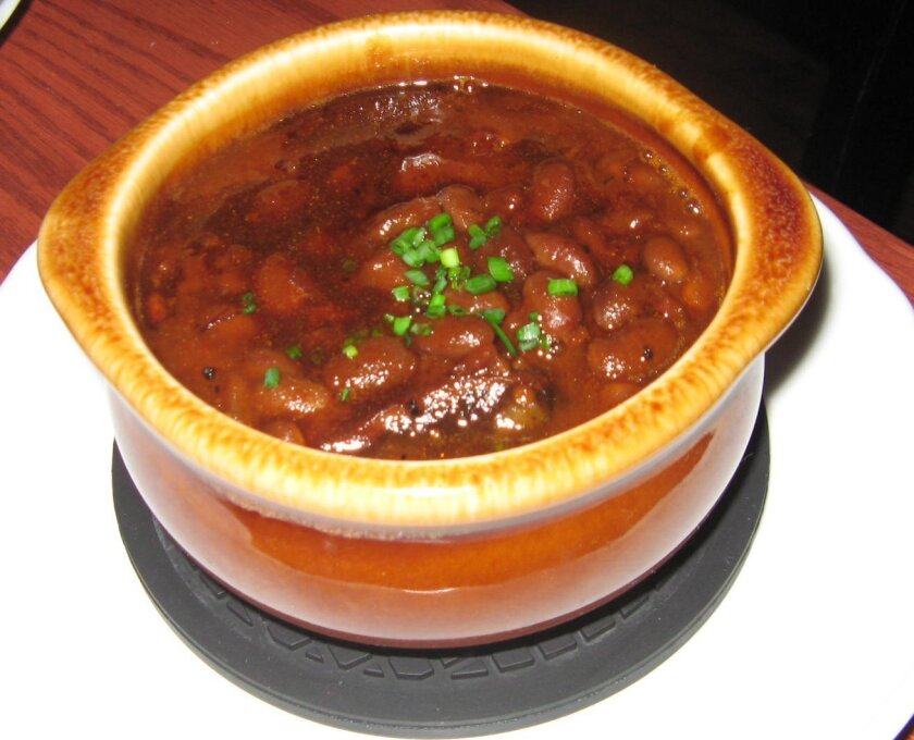 Boston baked beans at Green Dragon Tavern & Museum in Carlsbad. CREDIT: Pam Kragen