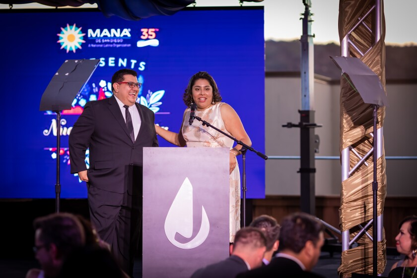 David and Jessica Mier, MANA de San Diego Brindis Gala co-chairs, at the event.