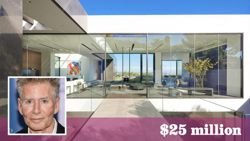 Fashion designer Calvin Klein paid $25 million for a glass showplace in the Bird Streets area of Hollywood Hills West.
