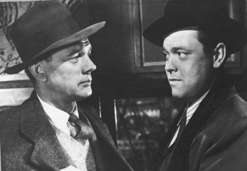 "Joseph Cotten and Orson Welles in ""The Third Man."""