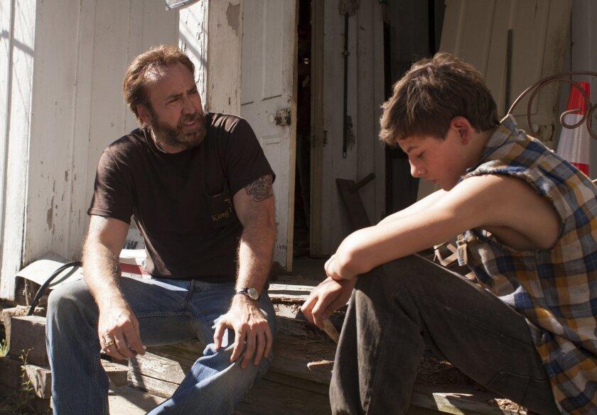 "Nicolas Cage andTye Sheridan in David Gordon Greens ""Joe."" Photo by Ryan Green"