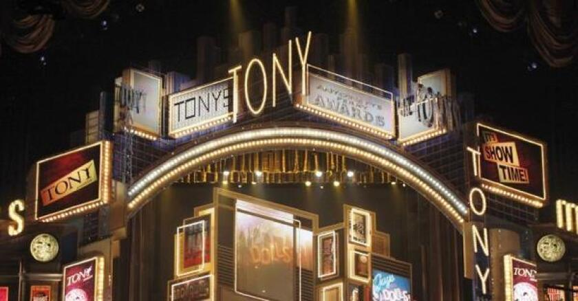 The Tony Awards will be broadcast on CBS on June 8.