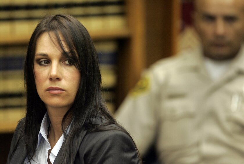 Cynthia Sommer, who was convicted of murdering her husband before eventually being freed, appears in San Diego Superior Court in September 2008. U-T file photo