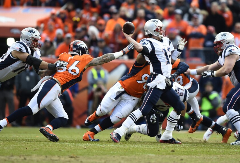 Denver Broncos got in Tom Brady's face, now must try to get a handle on Cam Newton in Super Bowl