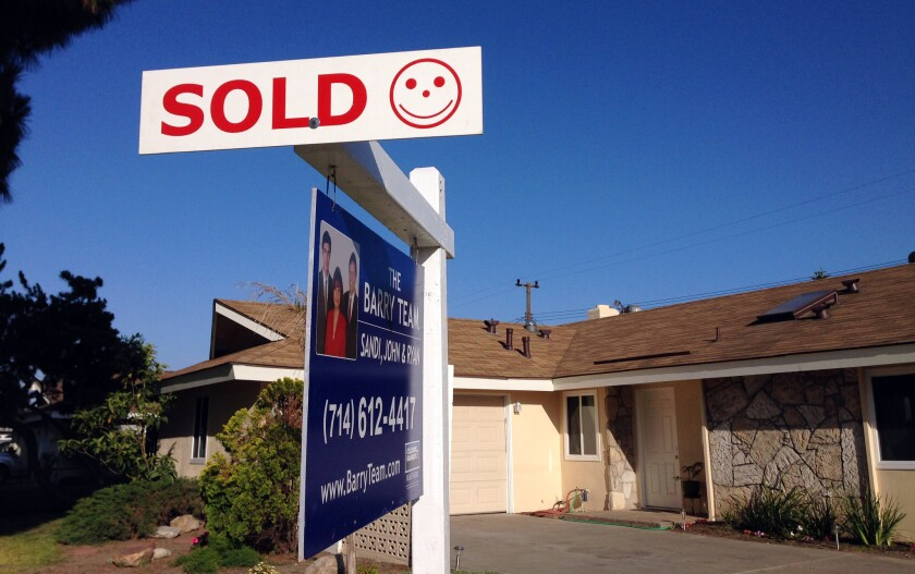 Home prices in Los Angeles and Orange counties are reported to have increased 6.2% in November compared with a year earlier. Above, a three-bedroom home in Huntington Beach that sold in 2014.