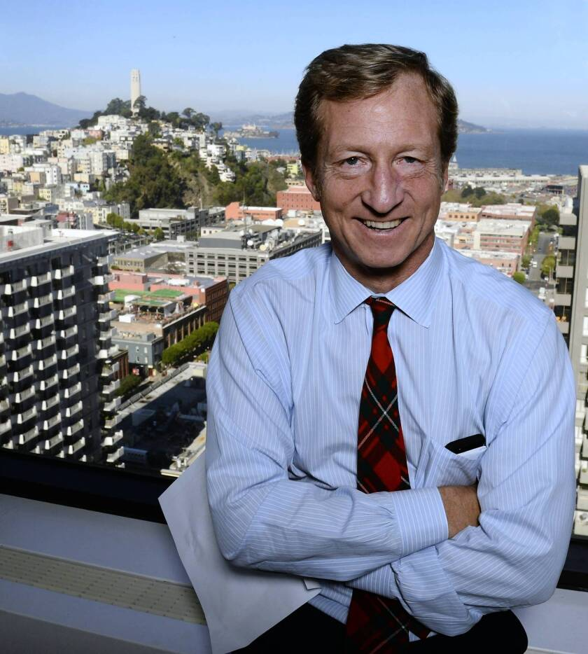 California hedge-fund billionaire Thomas Steyer, a longtime donor to liberal causes and politicians.