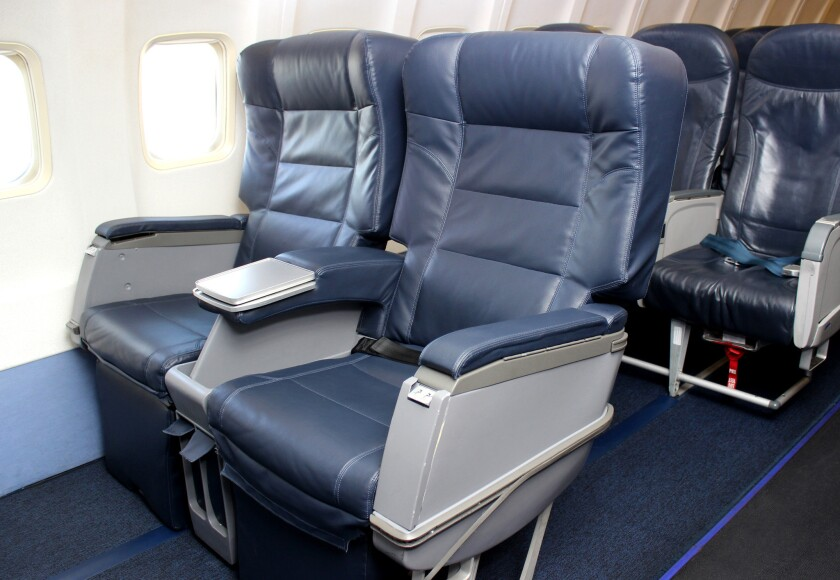 """Allegiant Air has introduced the """"Giant Seat,"""" which offers a width of 25 inches, compared with 17.5 inches for typical economy seats, for an extra $40 to $50."""