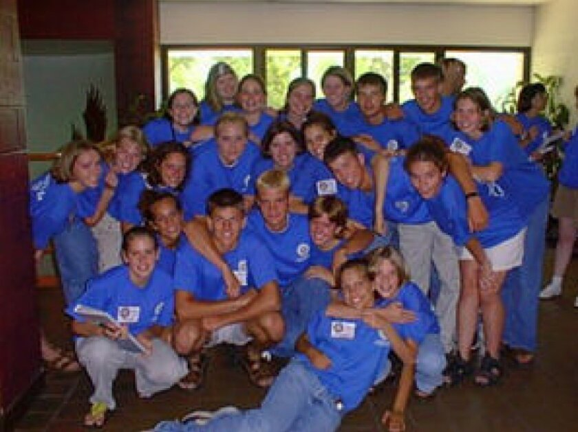 Previous RYLA participants show their team spirit. Courtesy