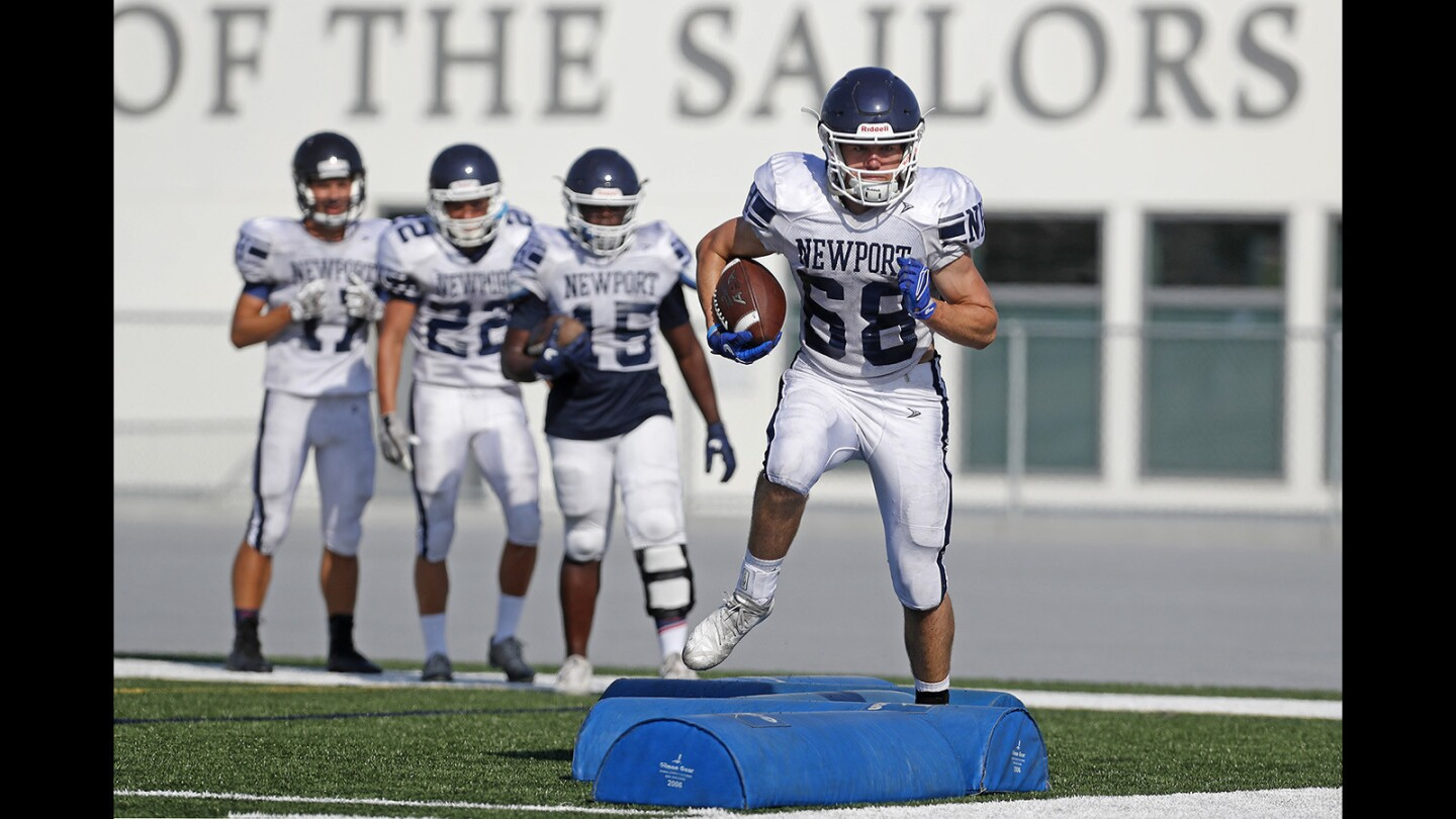 Photo Gallery: Newport Harbor High football practice