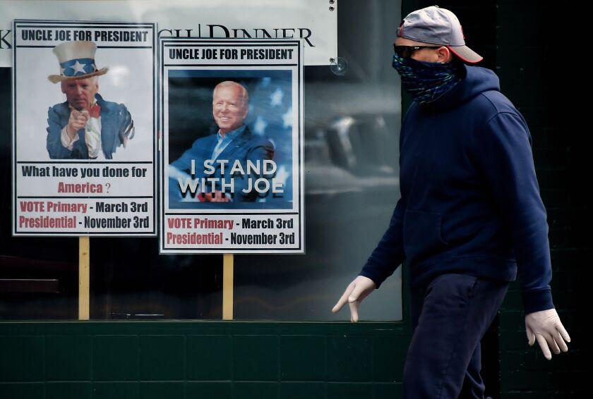 Biden campaign signs in Virginia.