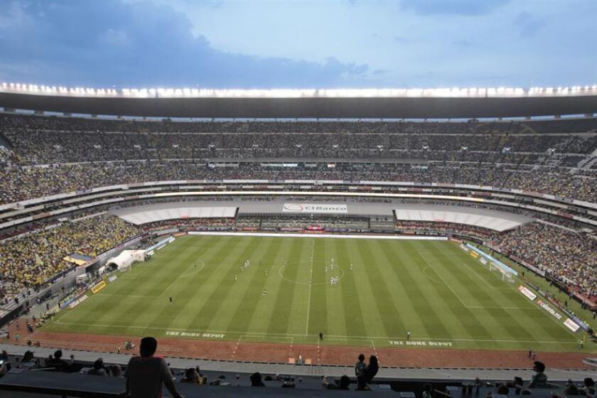 En la imagen, un registro del estadio Azteca en Ciudad de México (México). EFE/Archivo
