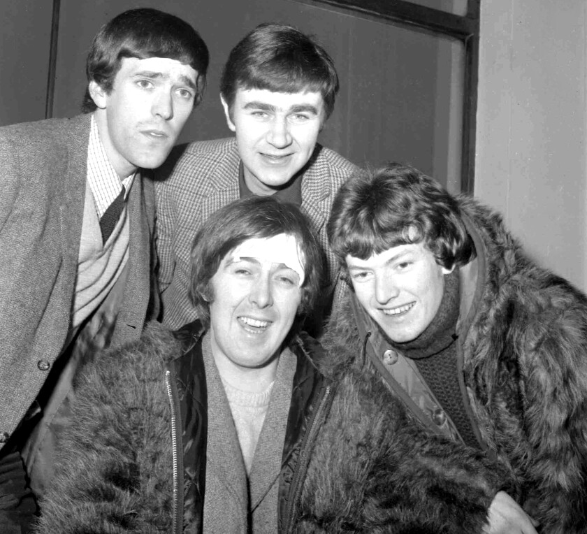 Spencer Davis Group members smile for a photo in 1966.