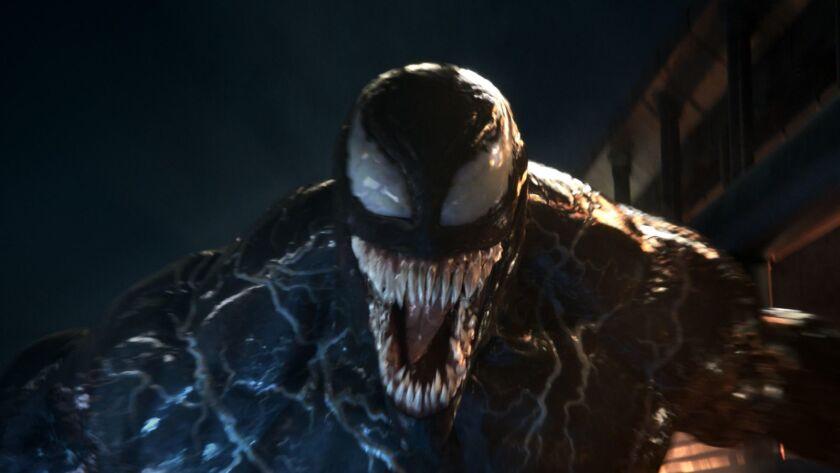 """Una escena de la cinta """"Venom"""", que se encuentra ya en cartelera."""