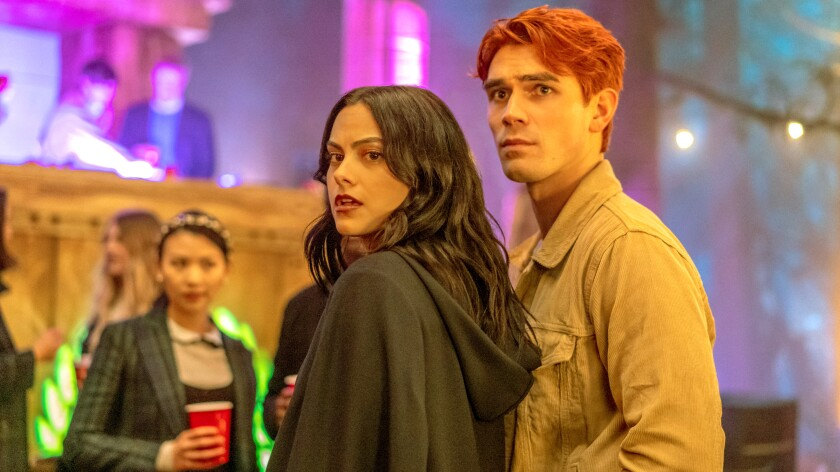 "Camila Mendes and KJ Apa in ""Riverdale"" on The CW."