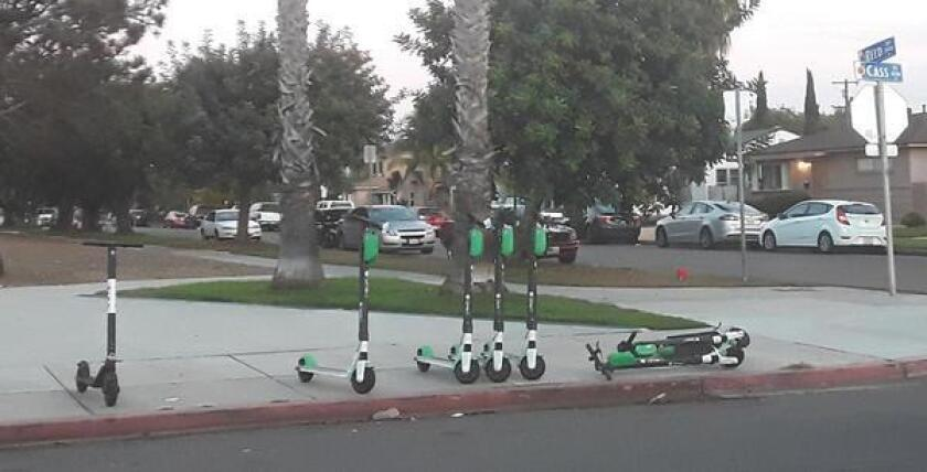 Mayor Kevin Faulconer's proposed scooter rules would limit speeds in high-traffic areas (such as boardwalks) to 8 mph and increase geo-fencing to prohibit unsafe scooter parking.