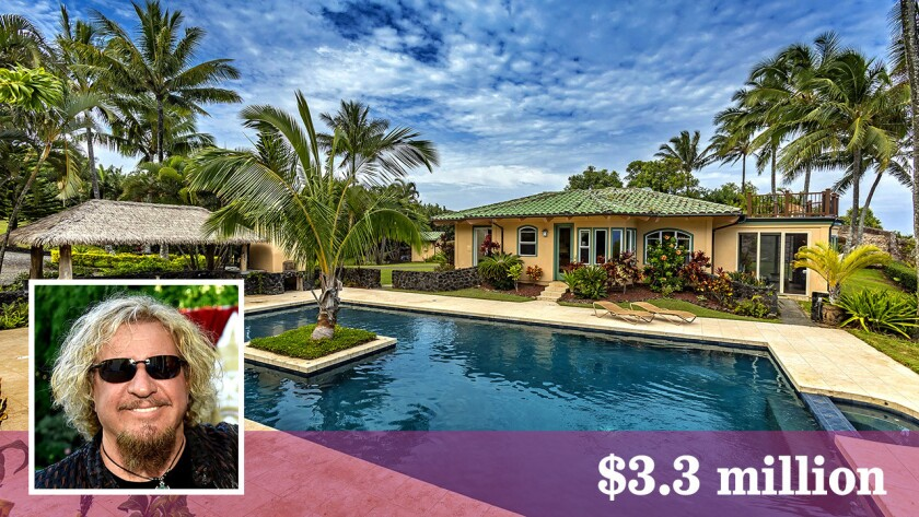 Rock icon Sammy Hagar lists his Hawaiian retreat for $3.3 million.