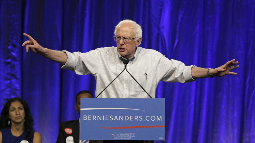 Sen. Bernie Sanders said the nomination should go the candidate with the most delegates at the end of the primary season.