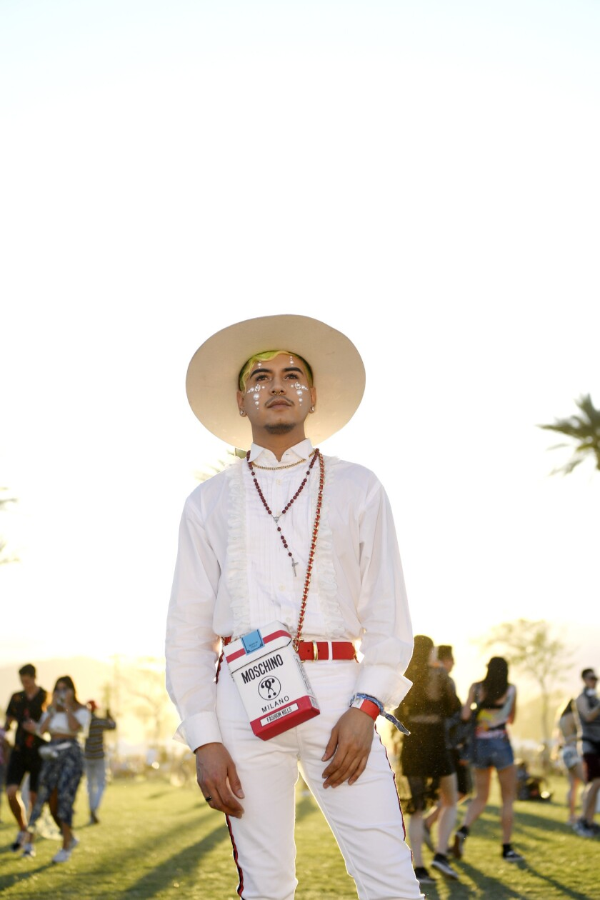 INDIO, CA-April 12, 2019: Daniel Ritz at the Coachella Music Festival during day 1 on the Empire Po