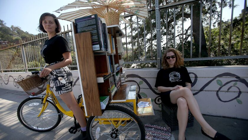 Jenn Witte and Dawn Finley founded the mobile Feminist Library on Wheels